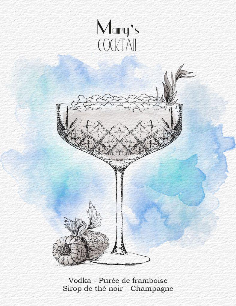 illustrazione cocktail le reservoir