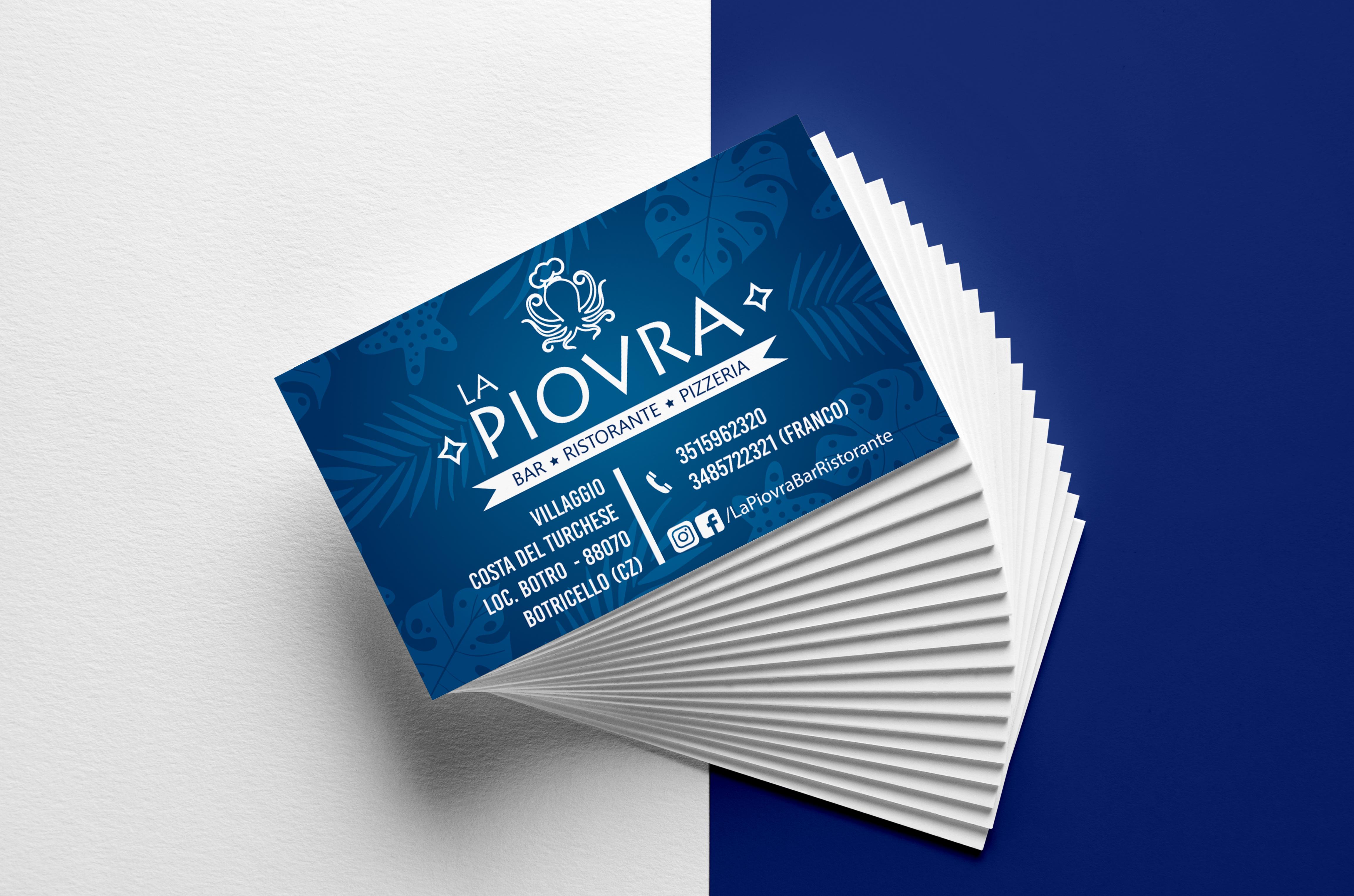 mock up biglietti da visita La Piovra