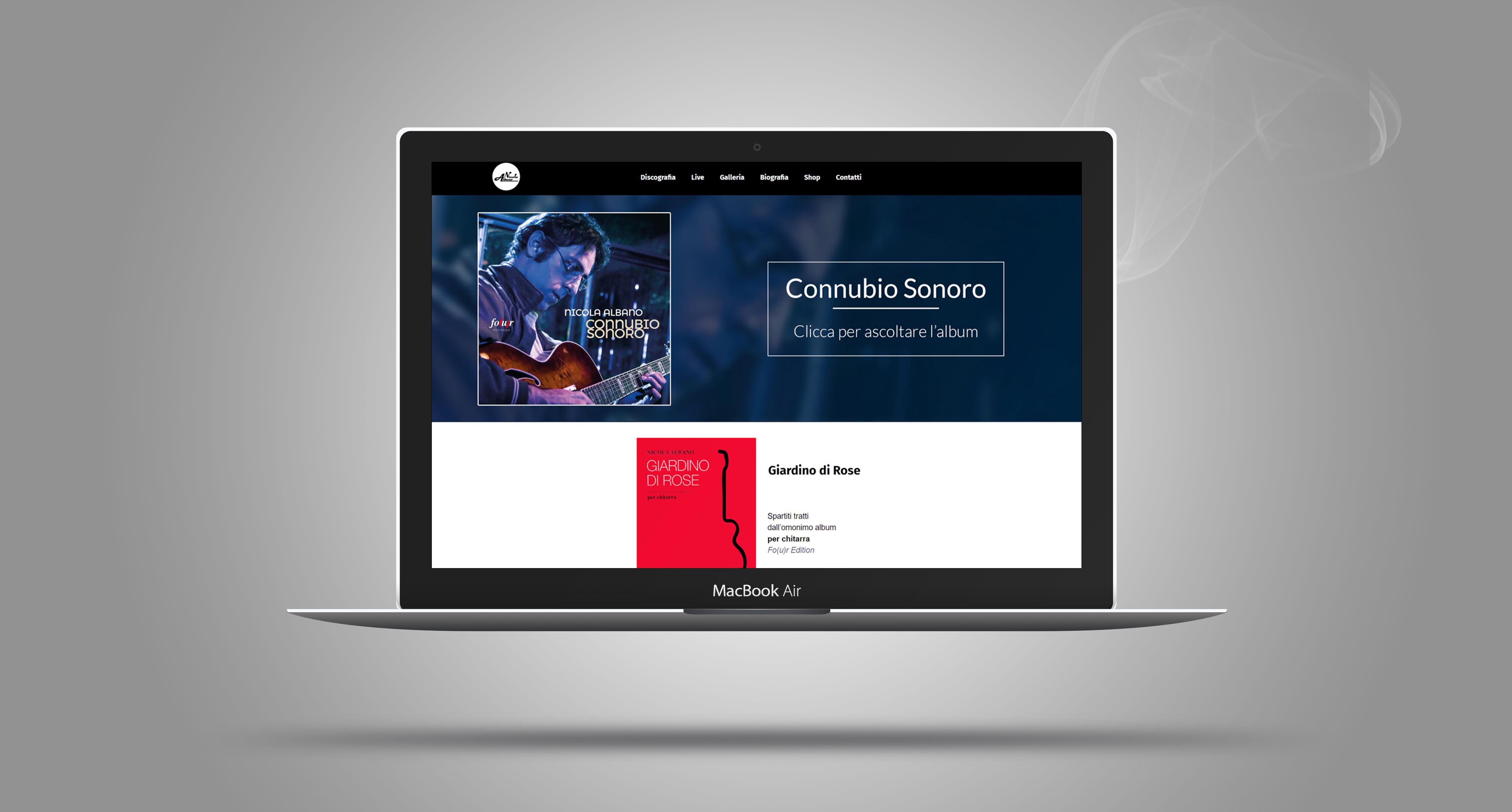 mockup screenshot sito attuale nicola albano